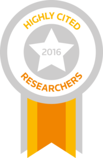 Badge Clarivate Analytics Highly Cited Researcher