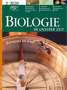 "Cover o the journal ""Biologie in unserer Zeit (2020) Volume 50 Issue 2"""