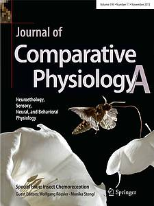 "Cover of the ""Journal of Comparative Physiology A"" (2013) Volume 199 Issue 11"